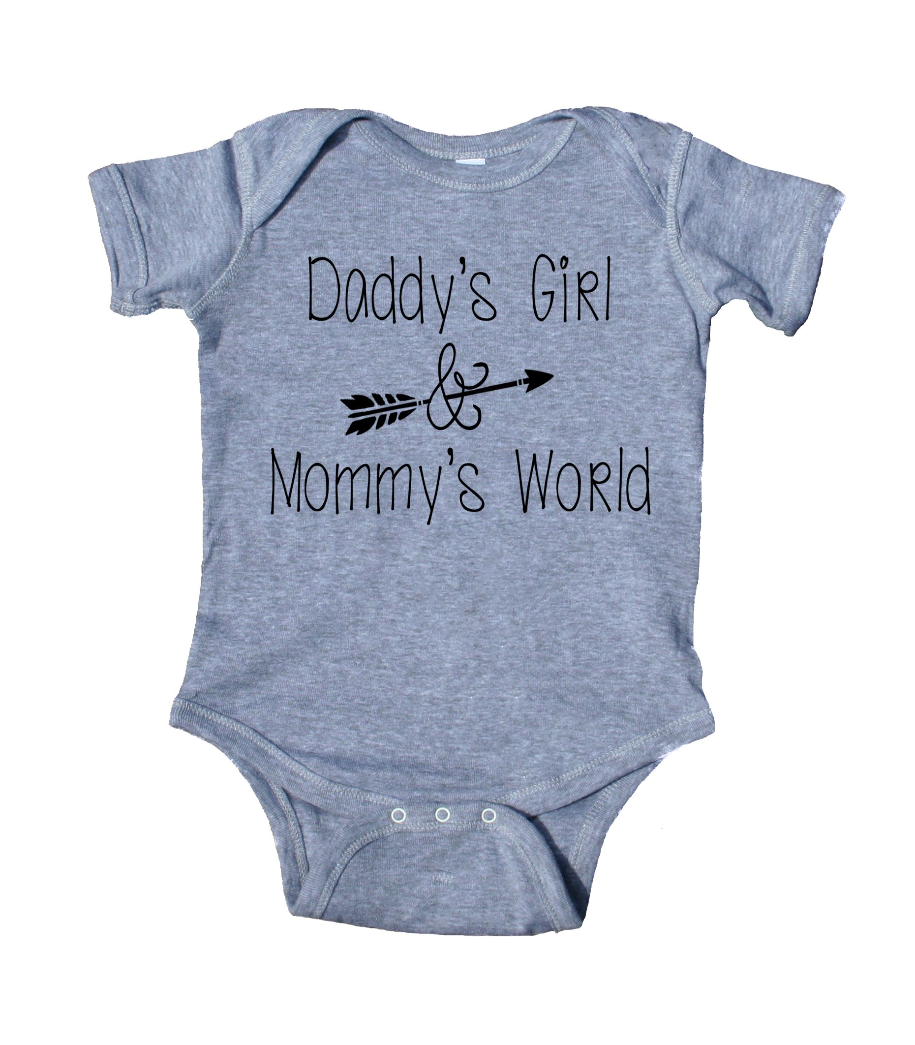 Image of Daddy's Girl And Mommy's World Baby Onesuit Cute Girl's Clothing