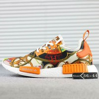 HERMES x ADIDAS NMD R1 Boost Fashion Casual Running Sneakers Shoes Orange G-SSRS-CJZX