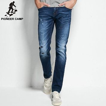 ripped jeans mens clothing fashion stretch denim pants top quality casual slim fit biker jeans for men