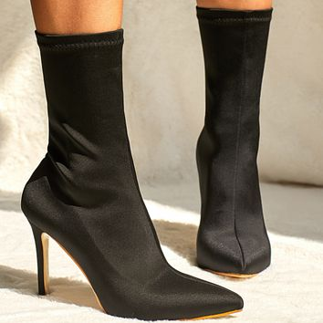 New hot sale fashion pointed toe mid-tube boots shoes