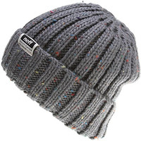 neff Men's Ridley Beanie, Charcoal Heather, One Size