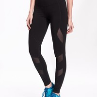 Old Navy Womens Mesh Panel Compression Leggings