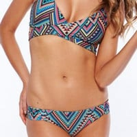 Tribal Print Back Tying Bikini