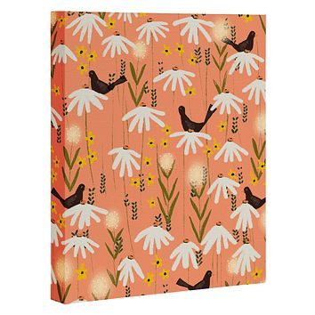 Joy Laforme Blooms of Dandelions and Wild Daisies Art Canvas