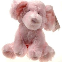 """8"""" Russ Berrie Musical Pink Elliefumps Elephant Baby Toy Plush Brahm's Lullaby"""