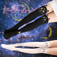 Sailor Moon Cosplay - Luna Cat  Pantyhose Tights Leggings Socks Women Stocking