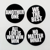 DJ Khaled  - Inspirational Quotes Lyrics Magnet or Sticker Set: Another One, We the Best, Win Win Win