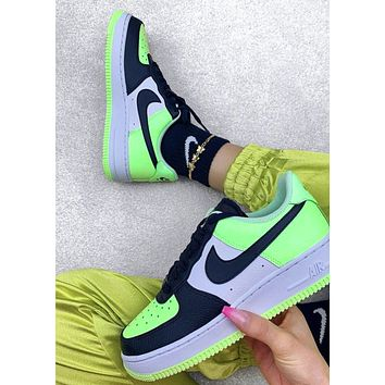 Nike Air force 1 new men's and women's color matching low-top casual sneakers Shoes