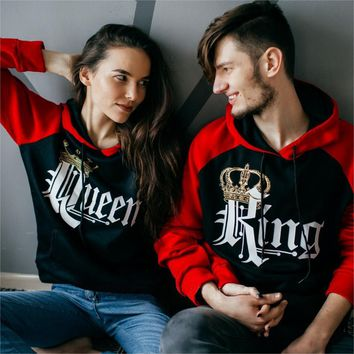 Royal King and Queen Two-tone Black / Red Raglan Hoodie
