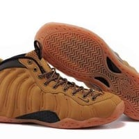 PEAPONVX Jacklish Nike Air Foamposite One Wheat Haystack/track Brown