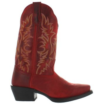 Laredo Malinda - Rust Leather Snip Toe Cowboy Boot