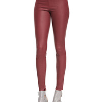 Smooth Leather Leggings,