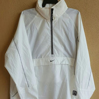 Nike Windbreaker Jacket with hooded white  size L