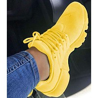 NIKE Air Presto Stylish Woman Men Leisure Running Sneakers Sport Shoes Yellow I