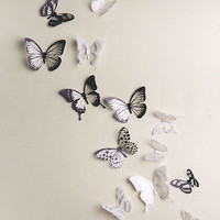 18 Pcs 3D DIY Wall Sticker Stickers Butterfly Home Decor Room Decorations CB6