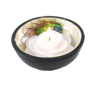 Peacock Feather Offering Bowl