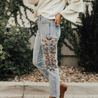 Dazey Embroidered Jeans
