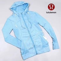 Lululemon Women Fashion Hooded Gym Yoga Cardigan Jacket Coat-2