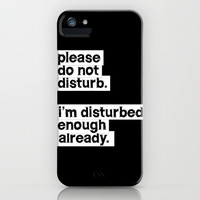 PLEASE DO NOT DISTURB 2 iPhone & iPod Case by WORDS BRAND™