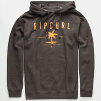 Rip Curl Surf City Central Mens Hoodie Charcoal  In Sizes