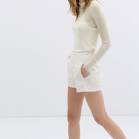 COMBINED GUIPURE LACE SHORTS