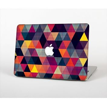 """The Triangular Abstract Vibrant Colored Pattern Skin Set for the Apple MacBook Air 13"""""""
