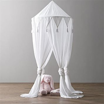 60cm Princess Baby Canopy Mosquito Net Crib Bed Toy Play Tent House Portable Boy Girl Castle Indoor Kids Playhouse Room Decor