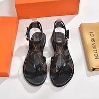 【Louis Vuitton】LV Open toe cross belt sandals shoes