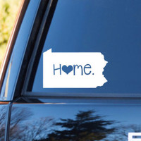 Pennsylvania Home Decal   Pennsylvania Decal   Homestate Decals   Love Sticker   Love Decal    Car Decal   Car Stickers   078