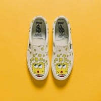 Vans Vault OG Slip-On LX X SpongeBob SquarePants Canvas Shoes - Best Deal Online