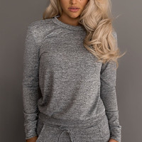 Fitted Glam Sweatsuit Grey