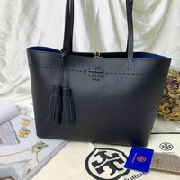 Beauty Ticks Tb Tory Burch Women's Leather Handbag Tote Bag #4638