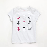 Girls Allover Anchor Graphic Tee
