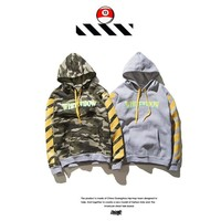 Hoodies Casual Camouflage Winter Stripes Hats [10309460039]