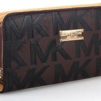 MICHAEL KOR WOMEN DOUBLE ZIPPER WALLET MK BAGS HANDBAGS