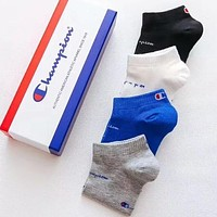 Champion Fashion Women Men Casual Sport 100% Cotton Socks