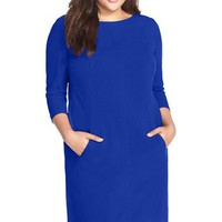 Plus Size Women's Tahari by Arthur S. Levine Seam Detail A-Line Shift Dress,