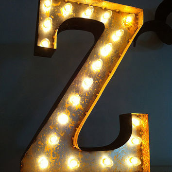Vintage Marquee Lights Letter Z by VintageMarqueeLights on Etsy