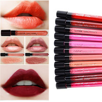 12PCS 12 Colors Waterproof Lip Gloss Matte Velvet Long Lasting Makeup Lipstick Pencil