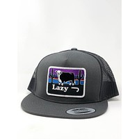 """Lazy J Ranch Wear Grey and Grey Hereford and sunset cap (4"""")"""