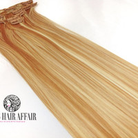 """Ready to Ship - 22"""" Inch Strawberry Blonde Mix Clip In Hair Extensions"""