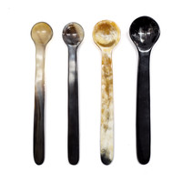 Delicate Cow Horn Spoon Set