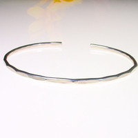1 - Extra Thin Sterling Silver Cuff Bracelet - Silver Cuff Bracelet - Thin Bangle Bracelet - Skinny Cuff Bangle