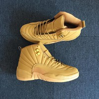 "Nike Air Jordan 12 ""Wheat"" Men Basketball Sneaker Shoes"