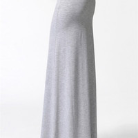 Basic Maxi Skirt - Heather Gray