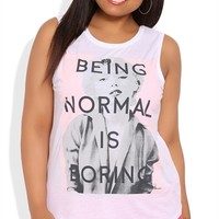 Plus Size Sleeveless Tank Top with Normal is Boring Marilyn Screen