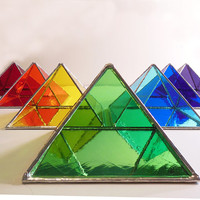 Green Stained Glass Pyramid