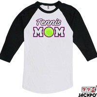 Tennis Mom Shirt Tennis Gifts For Mom Mothers Day Gift Tennis Lover Shirt Tennis Mom Gift Baseball Tee American Apparel Raglan MD-623
