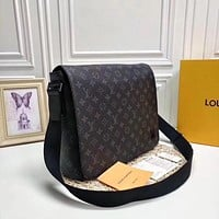 Louis Vuitton LV New Men Classic Leather Large Capacity Luggage Travel Bags Tote Handbag Crossbody Satchel