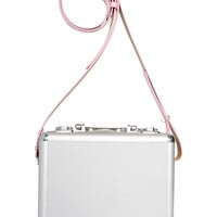 Space Case Silver Metal Trunk - Pink Strap